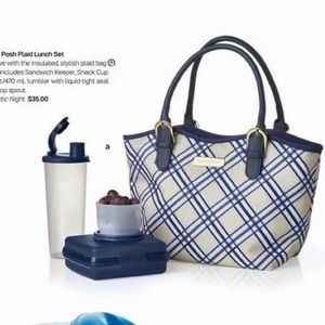 Handbags - Tupperware Posh Plaid Lunch Set Sandwich Bag